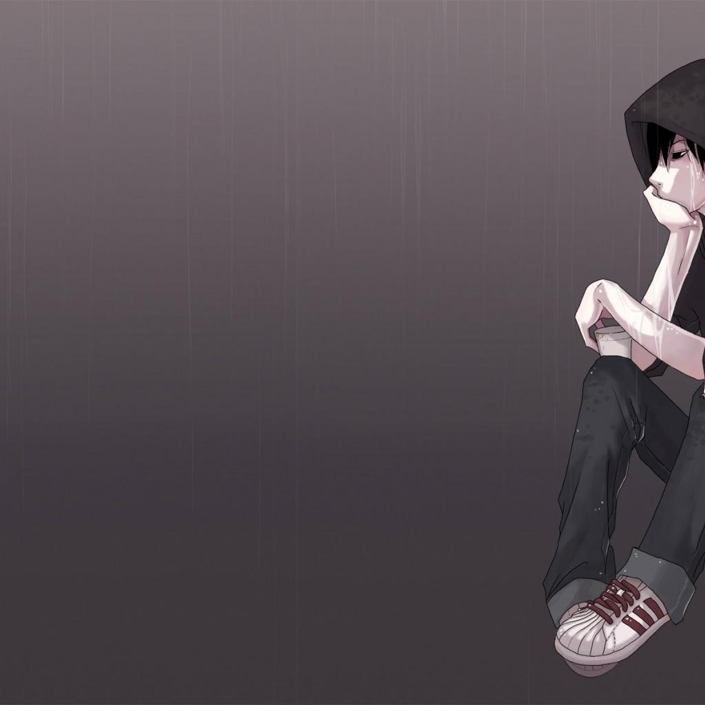 фото аниме грусть