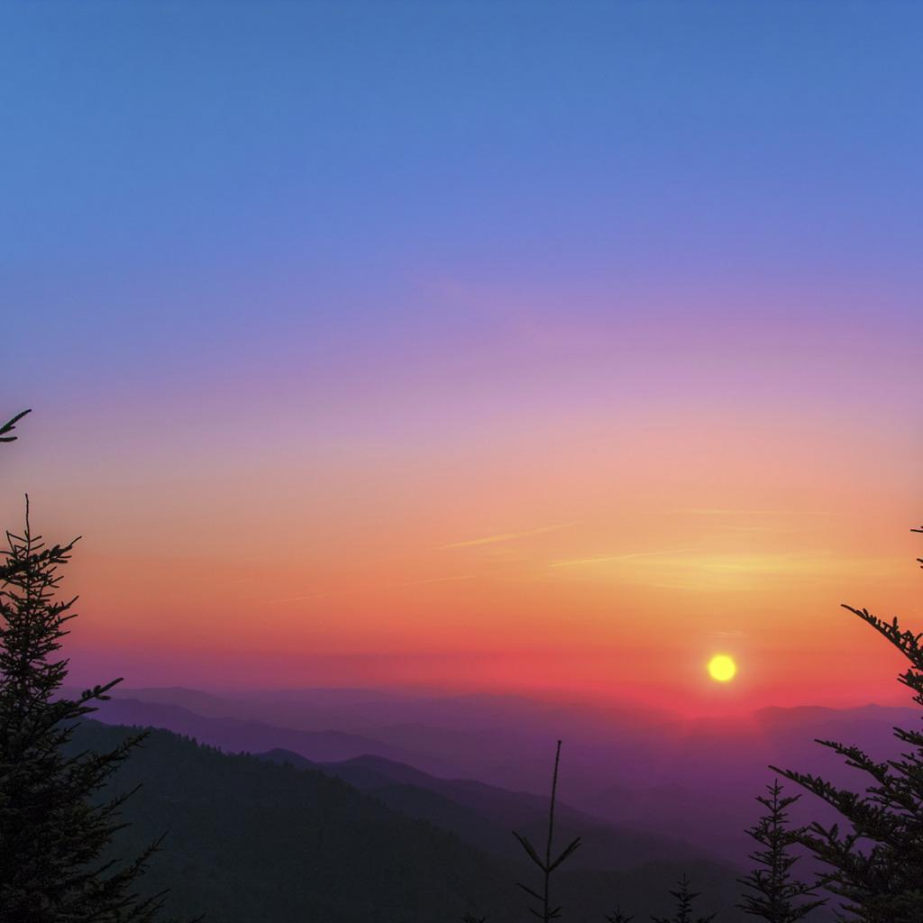 Обои восход, ёлки, утро. Природа foto 8