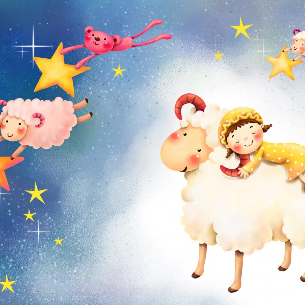 Нарисовать, открытки в год овечки