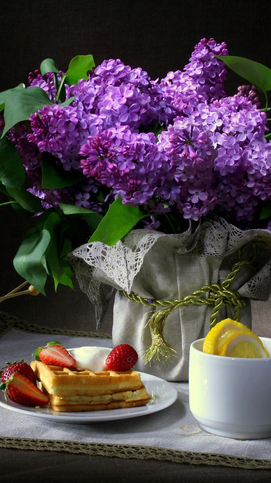 природа цветы сирень сахар блюдо  № 1154291  скачать