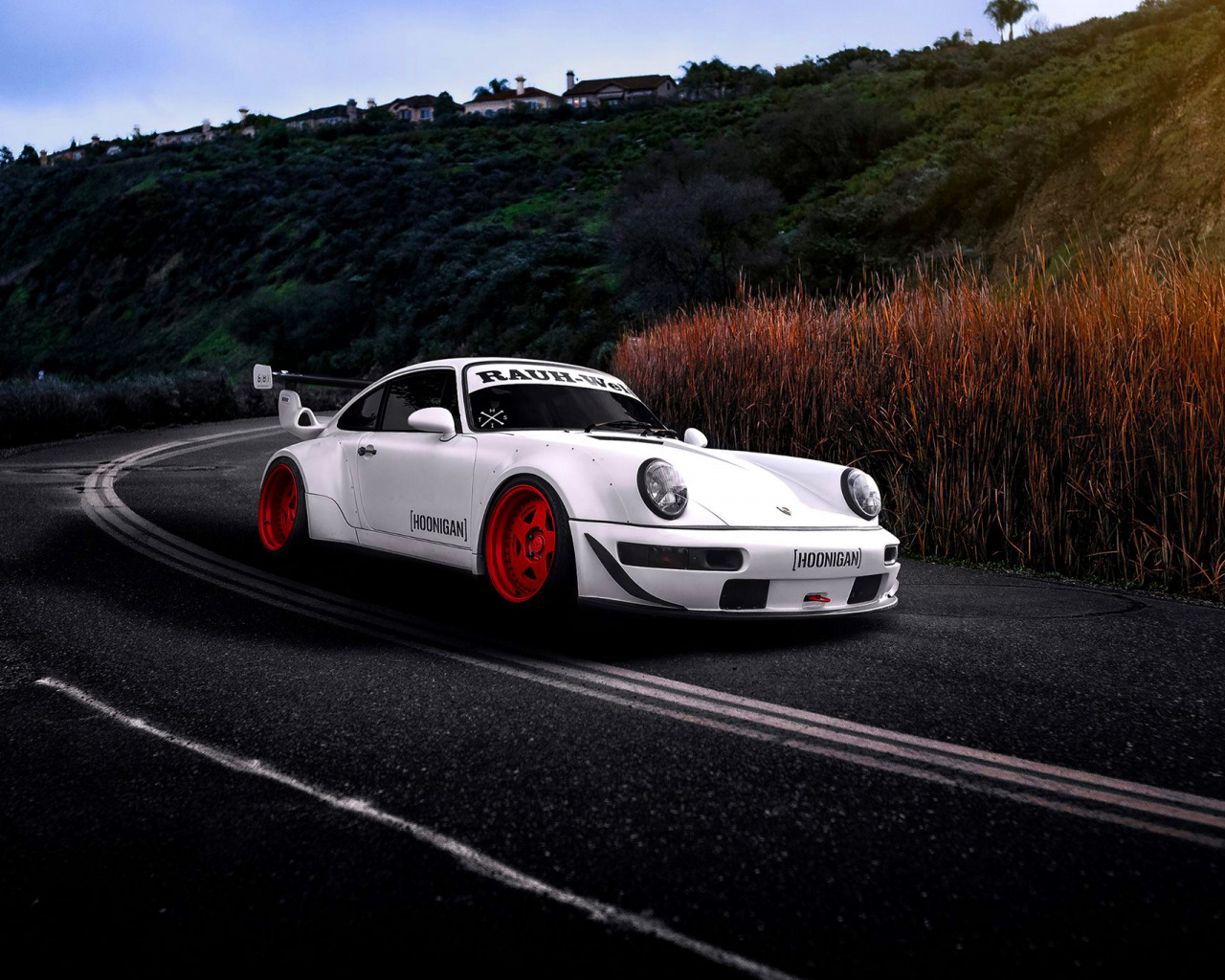 Targa Rwb Walpaper: Скачать обои Porsche, Car, Sun, White, Road, 993, RWB