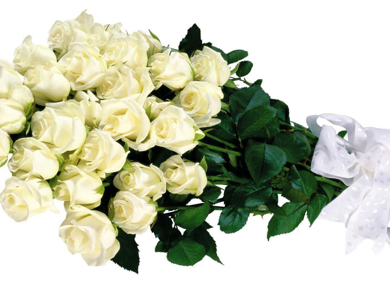 полотенце открытка шикарный букет белых роз уйдут тебя