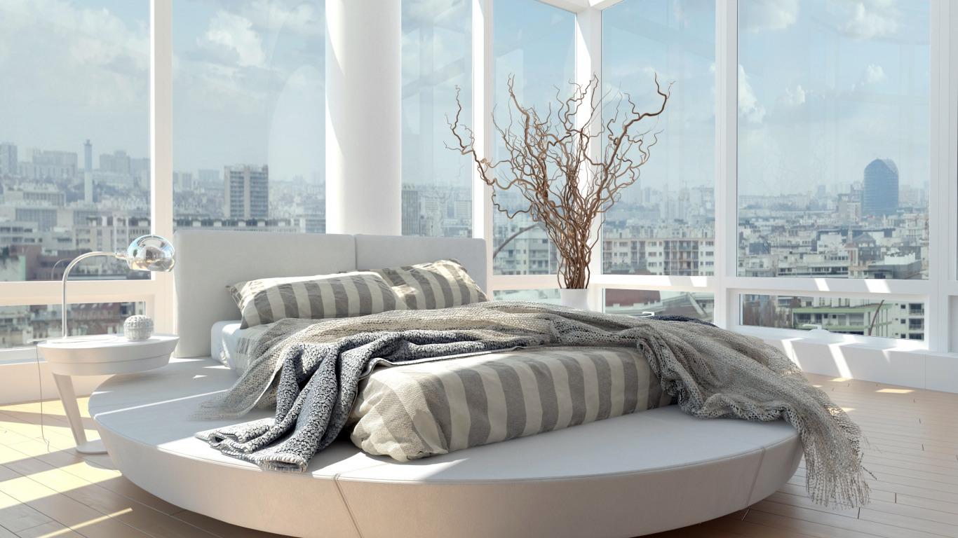 Скачать обои bed, room, window, раздел интерьер в разрешении.