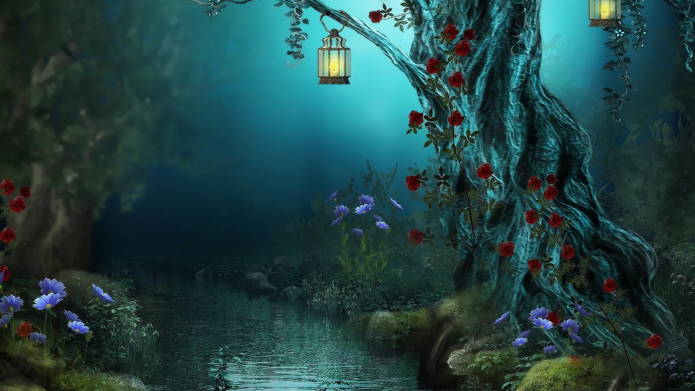 fantasy-flowers-forest-lamps.jpg