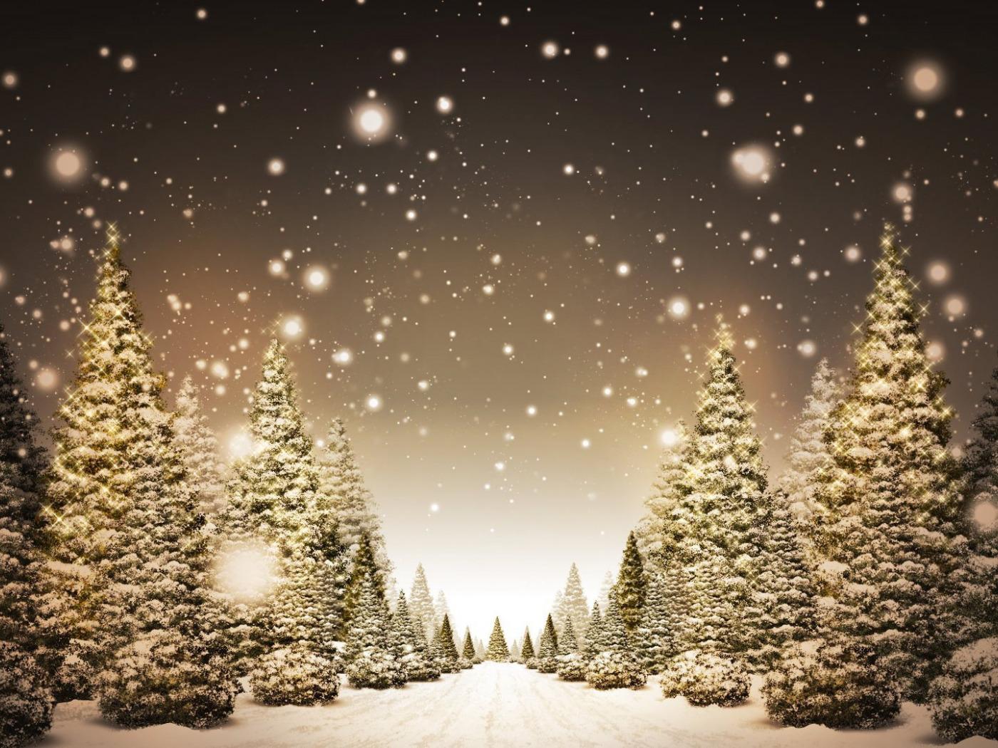 Открытка падающий снег