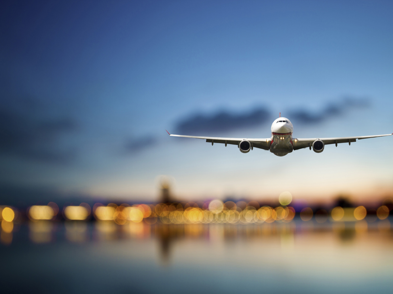 Открытка улетающий самолет