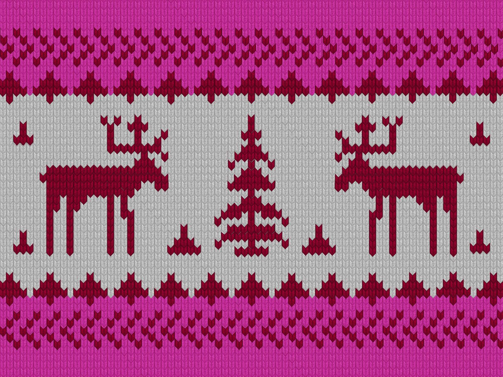Вязанный орнамент из оленей 127