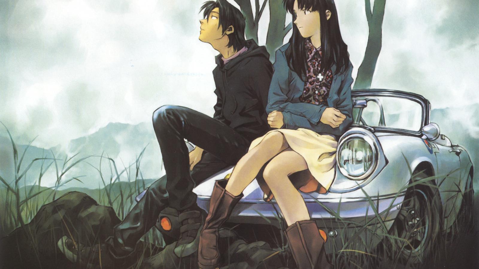 Рисованное фото парня и девушки