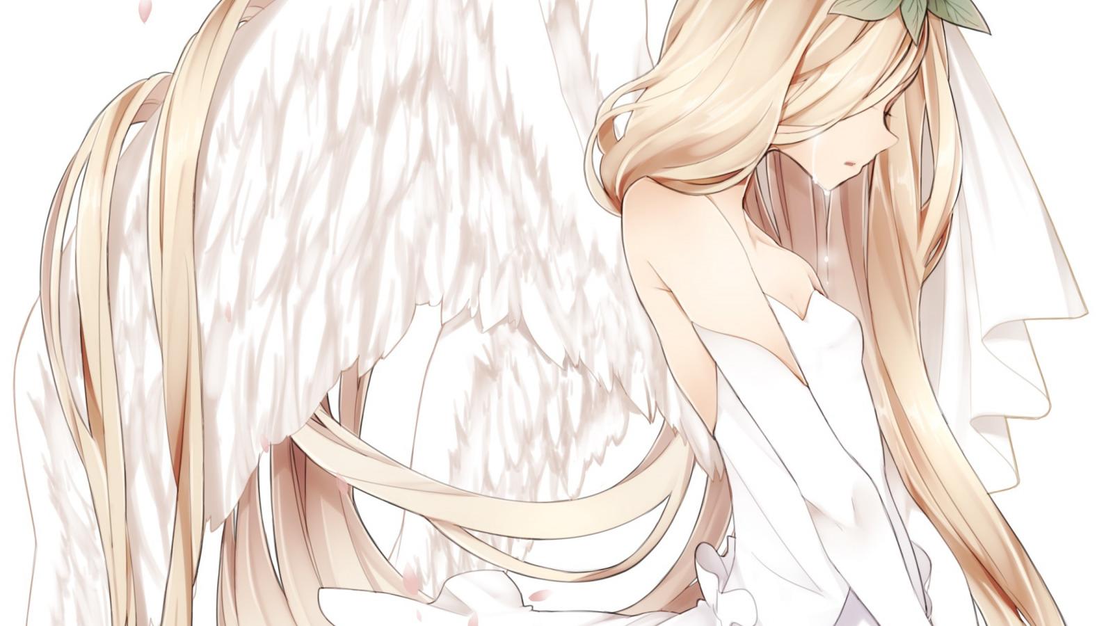 Картинки с аниме девочками ангелами, хаски бандита