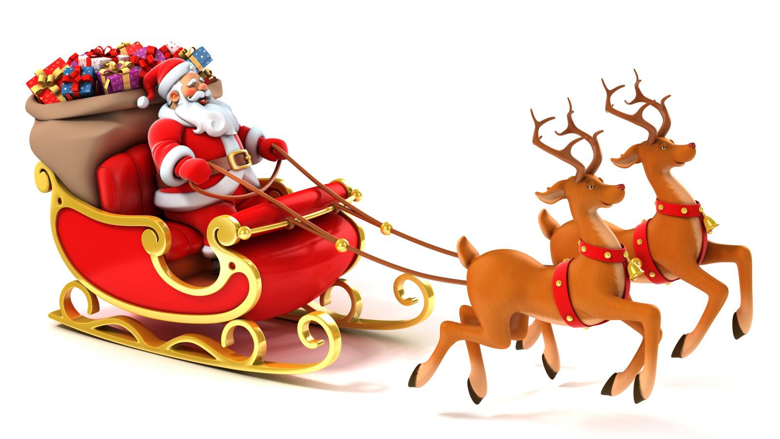 Новый год дед мороз и олени