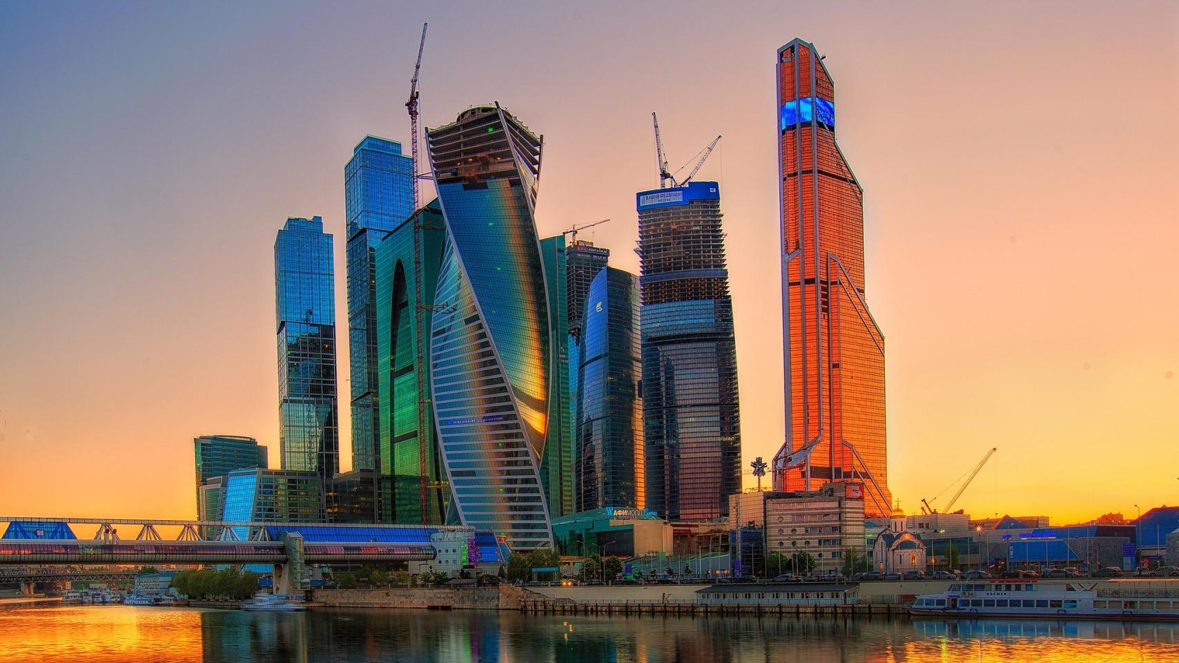 Москва сити ночь архитектура россия Башня на Набережной Город Столиц  № 3716303 бесплатно