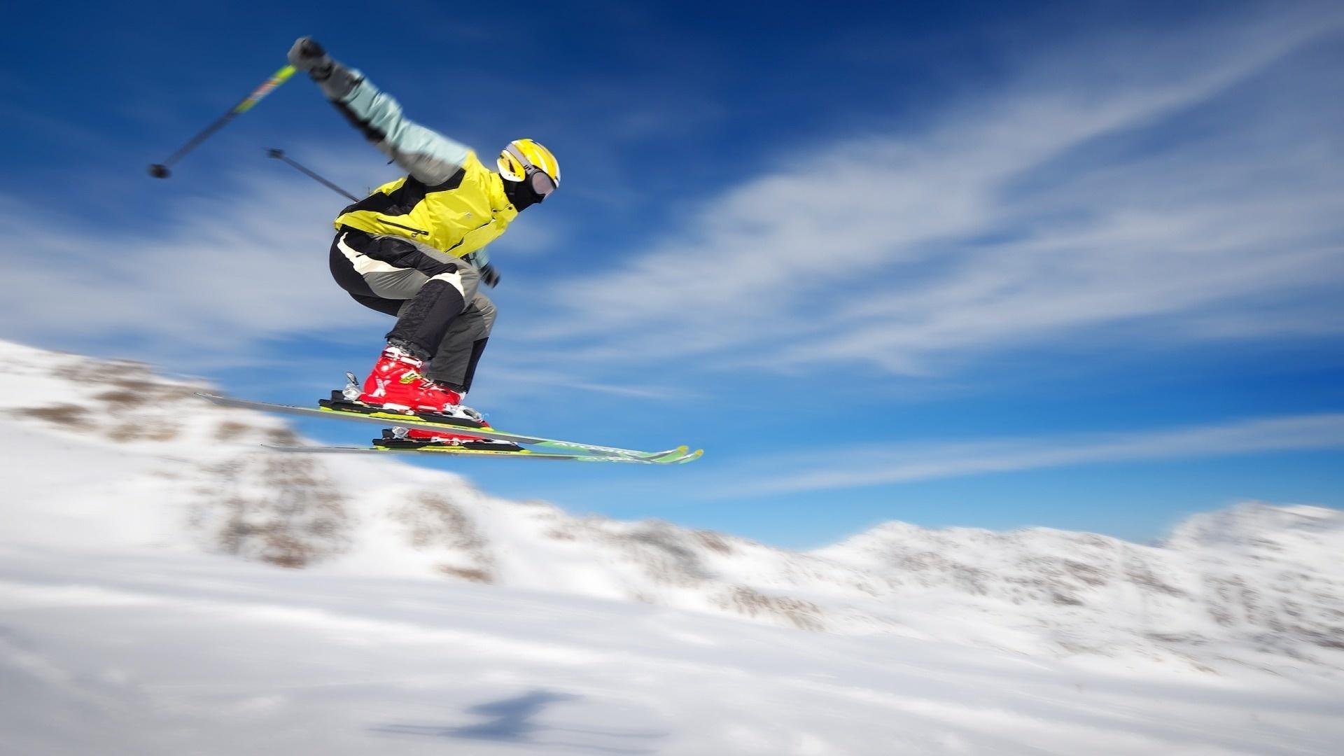 обои на тему лыжи открытый, может быть
