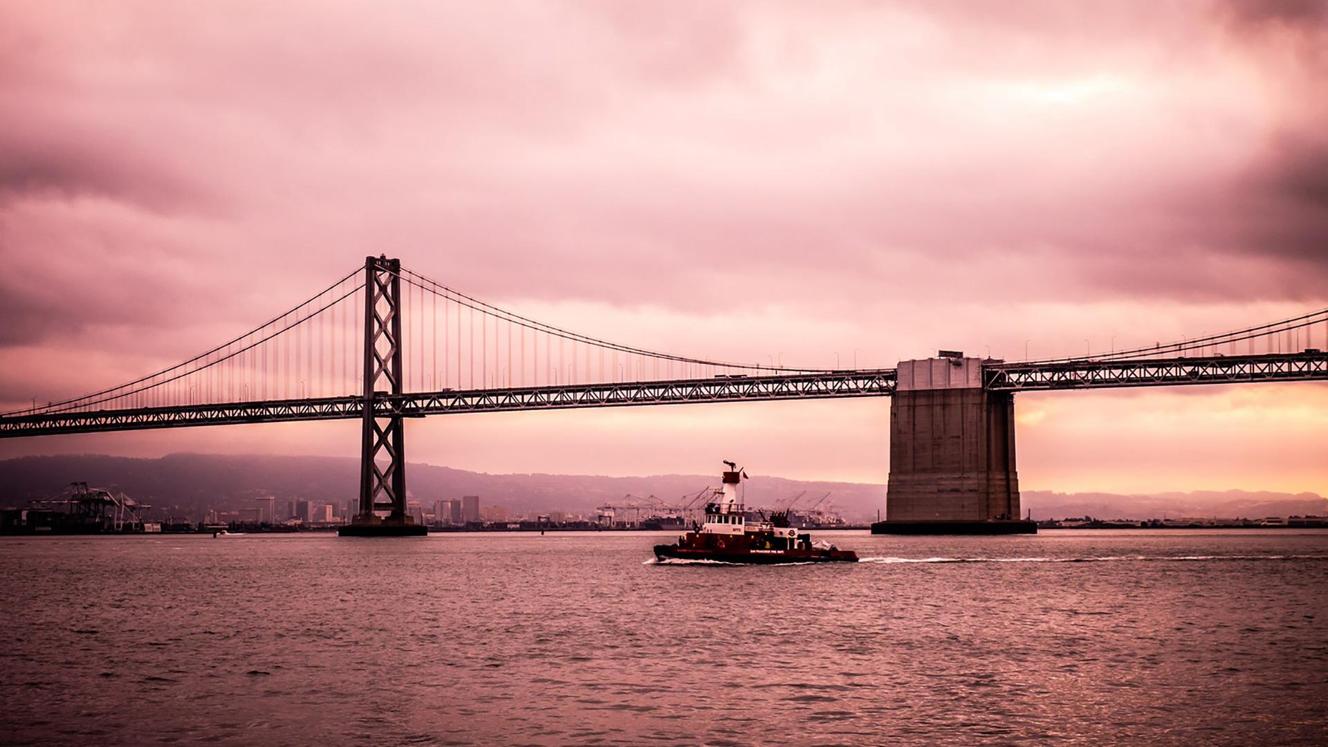 Evening Crossing, Bay Bridge, San Francisco, California  № 3721049 без смс