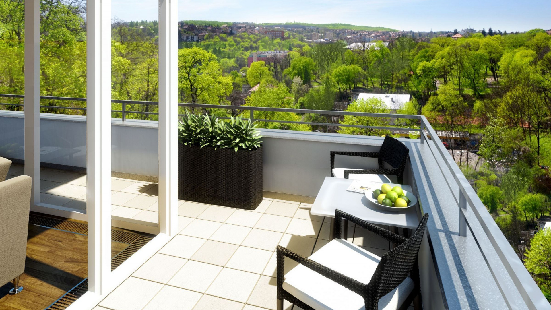 Скачать обои стиль, интерьер, терраса, балкон, дизайн, разде.
