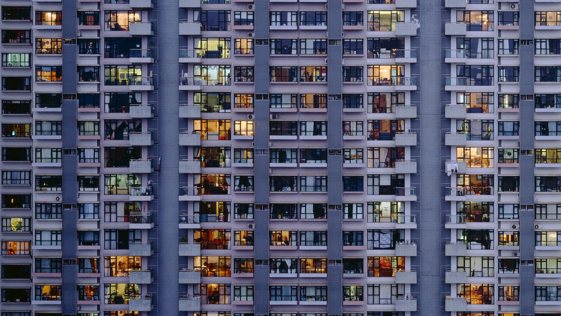 Обои building, windows, apartment. Windows foto 7