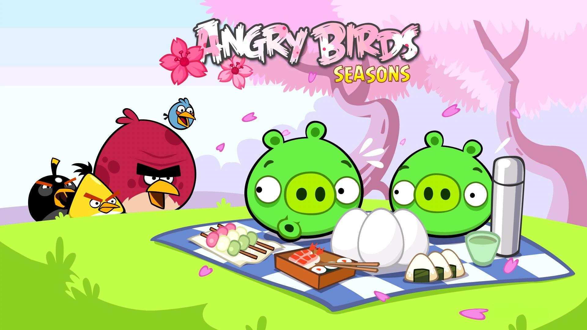 Игра angry birds seasons злые птицы птицы