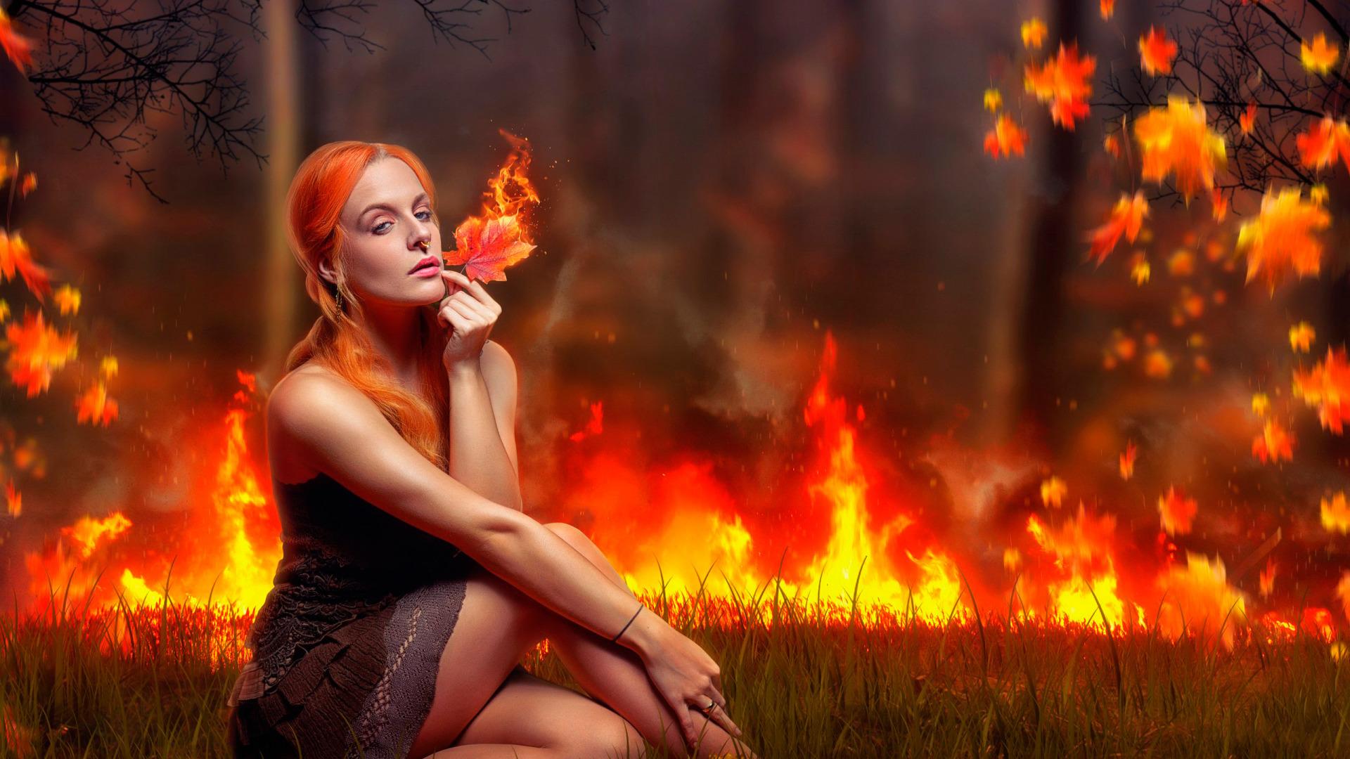 Картинки с девушками огненными
