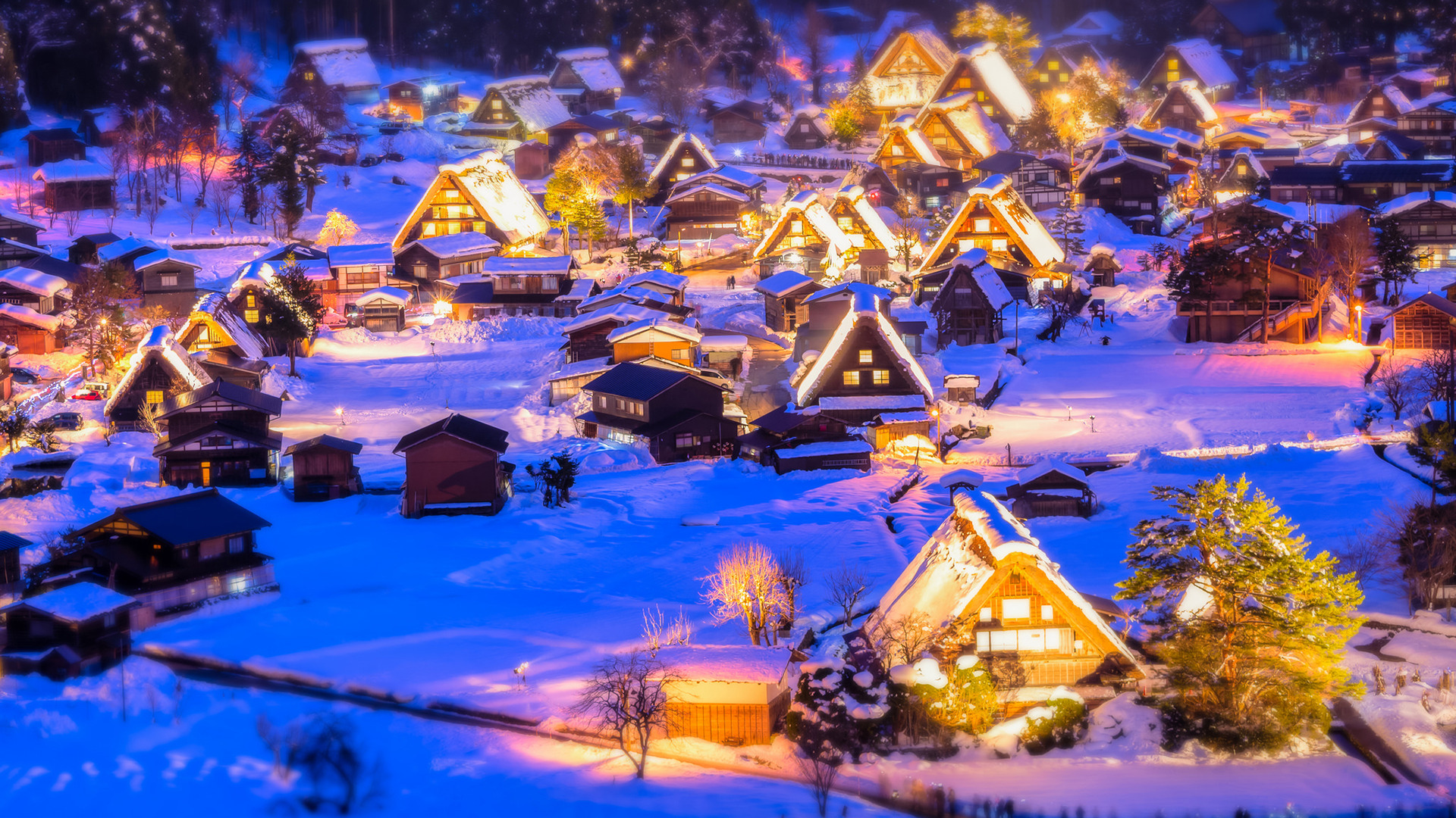 Картинки новогодний стол в деревне