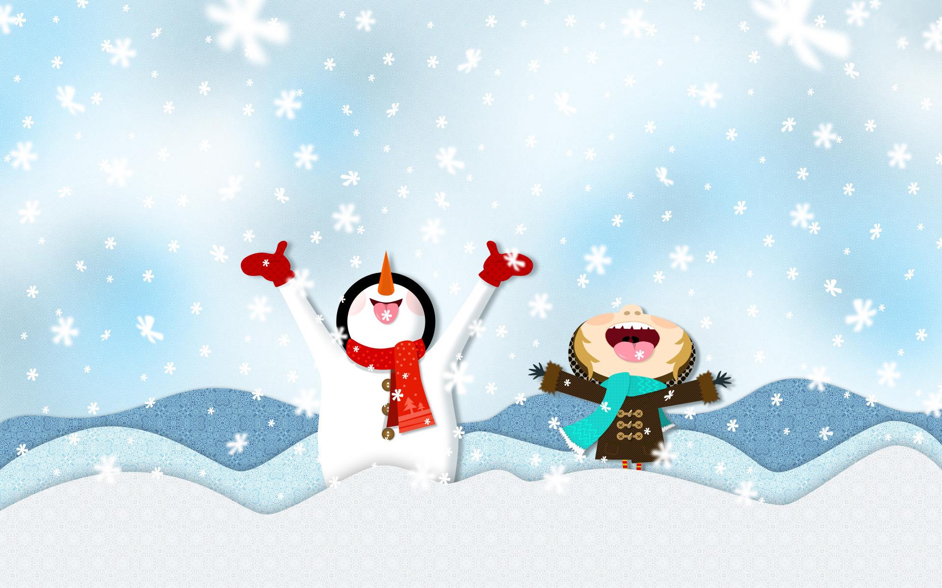 Смешные рисунки зимние, открытку марта