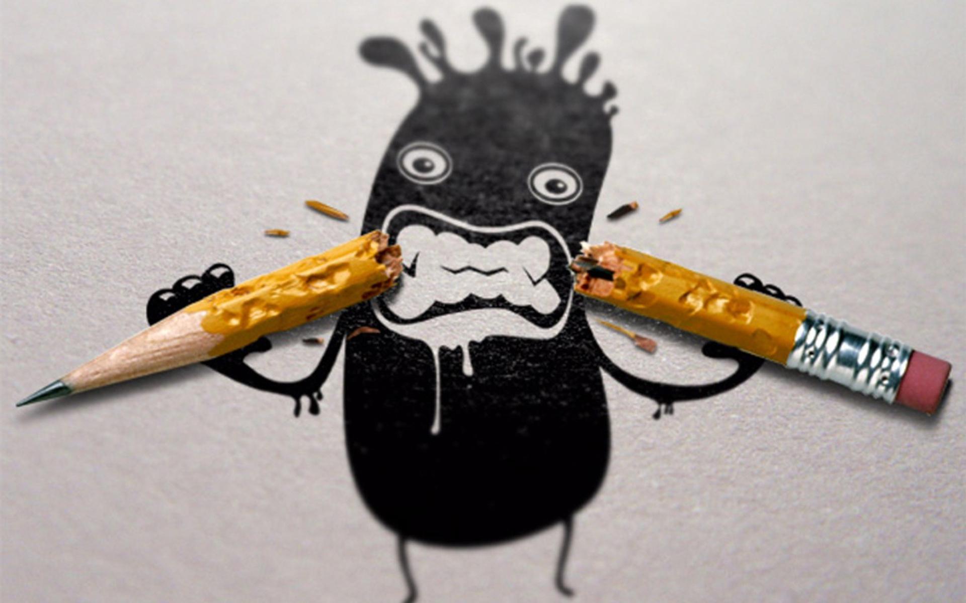 Сделать открытку, смешные картинки из карандаша