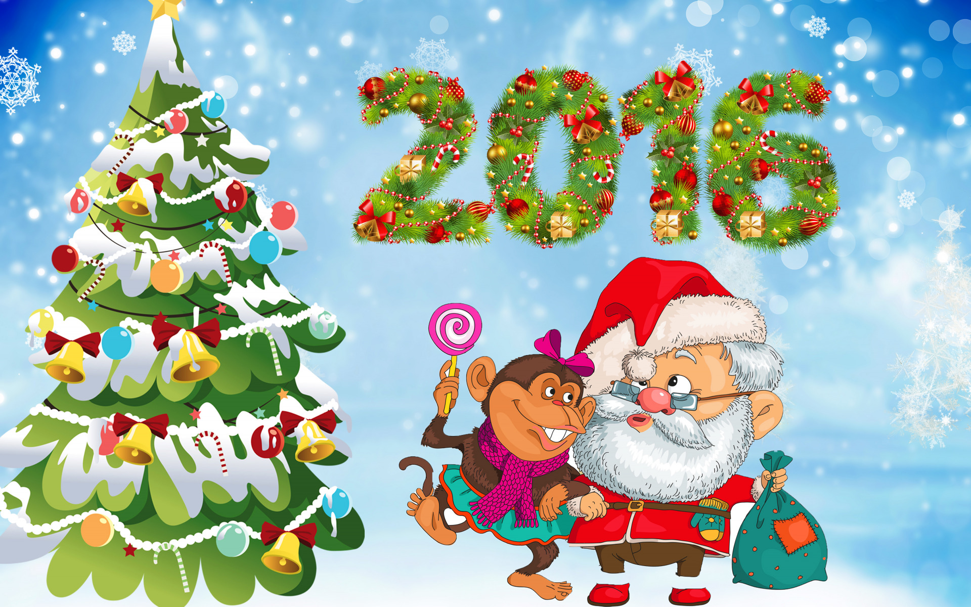 Открытки с поздравлениями к новому году 2016