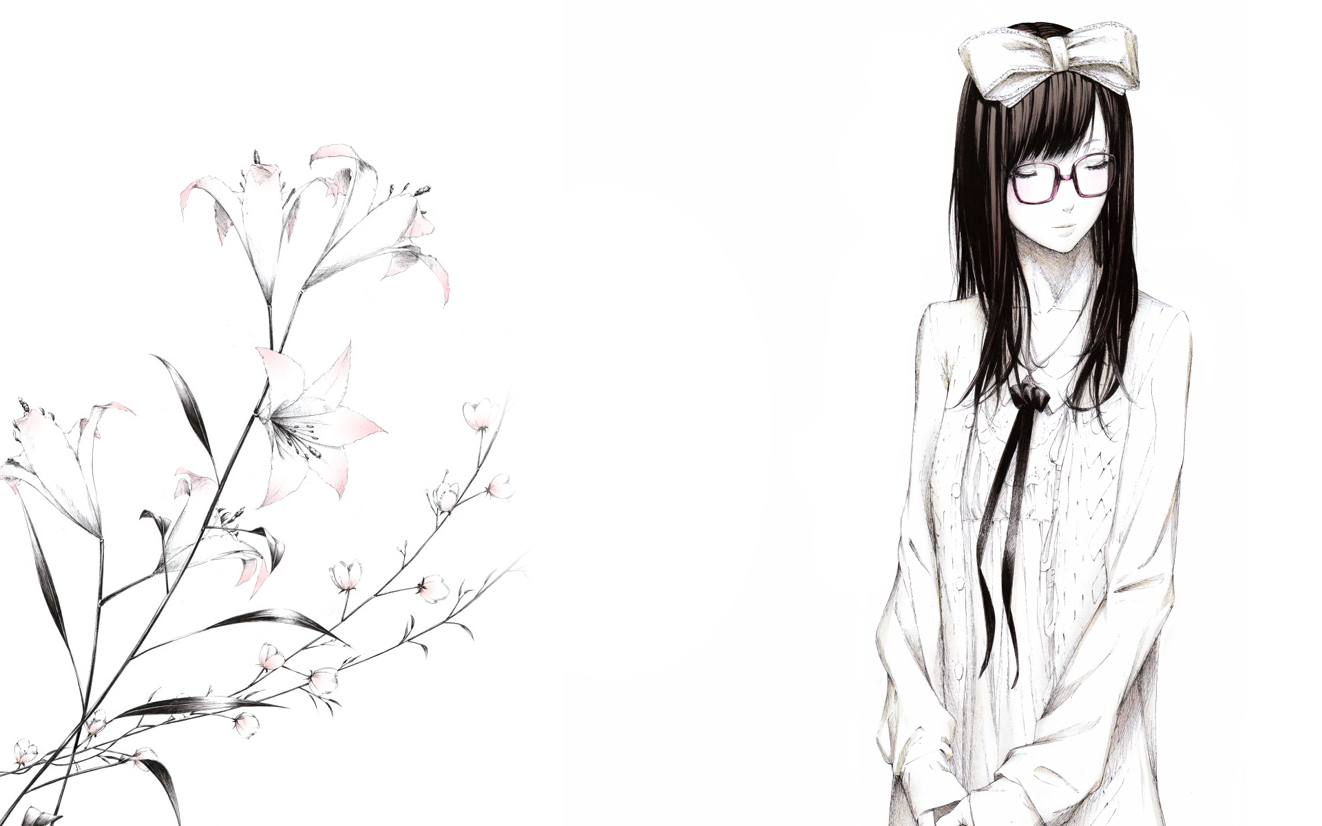 Картинки аниме цветы для срисовки карандашом