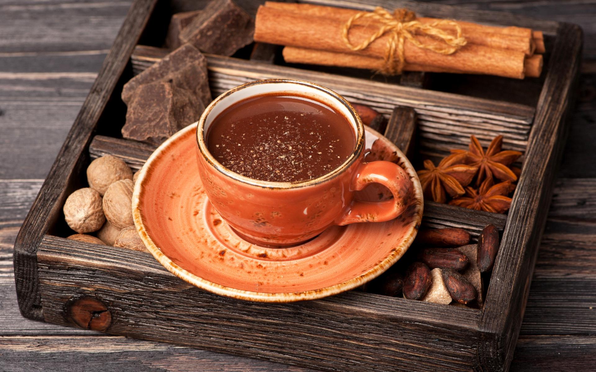 Обои на рабочий стол чай кофе шоколад