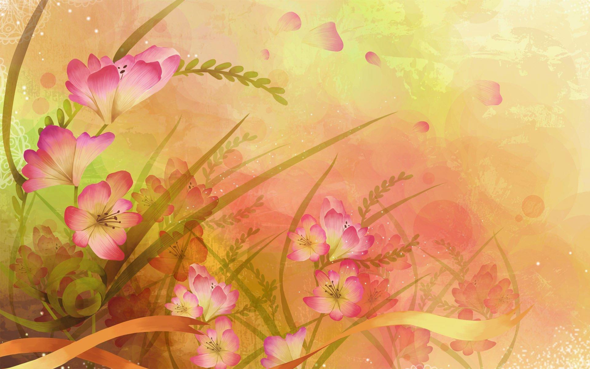 Фон цветы для открытки, для девочек дома