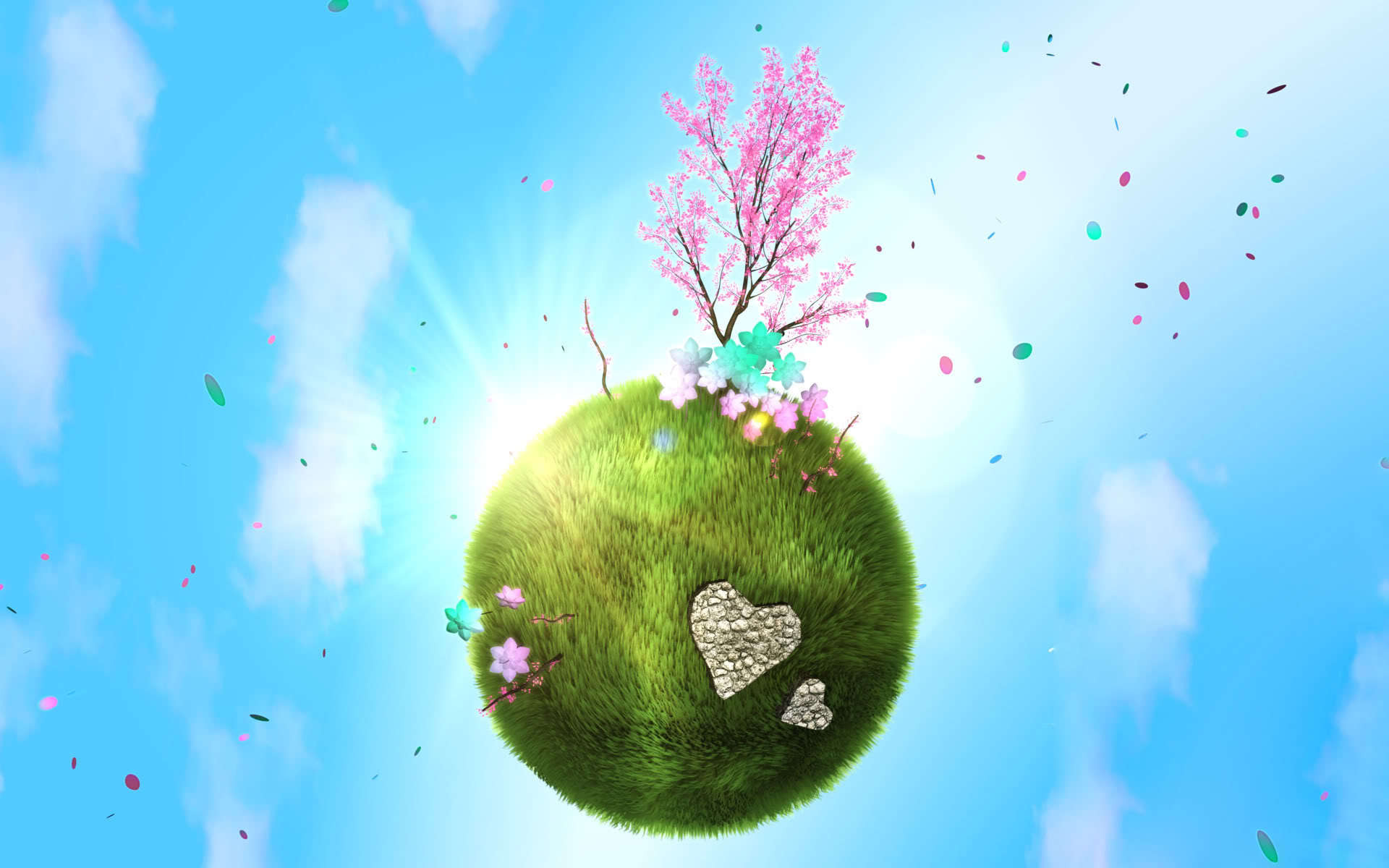Сердце из зелени  № 1599119  скачать
