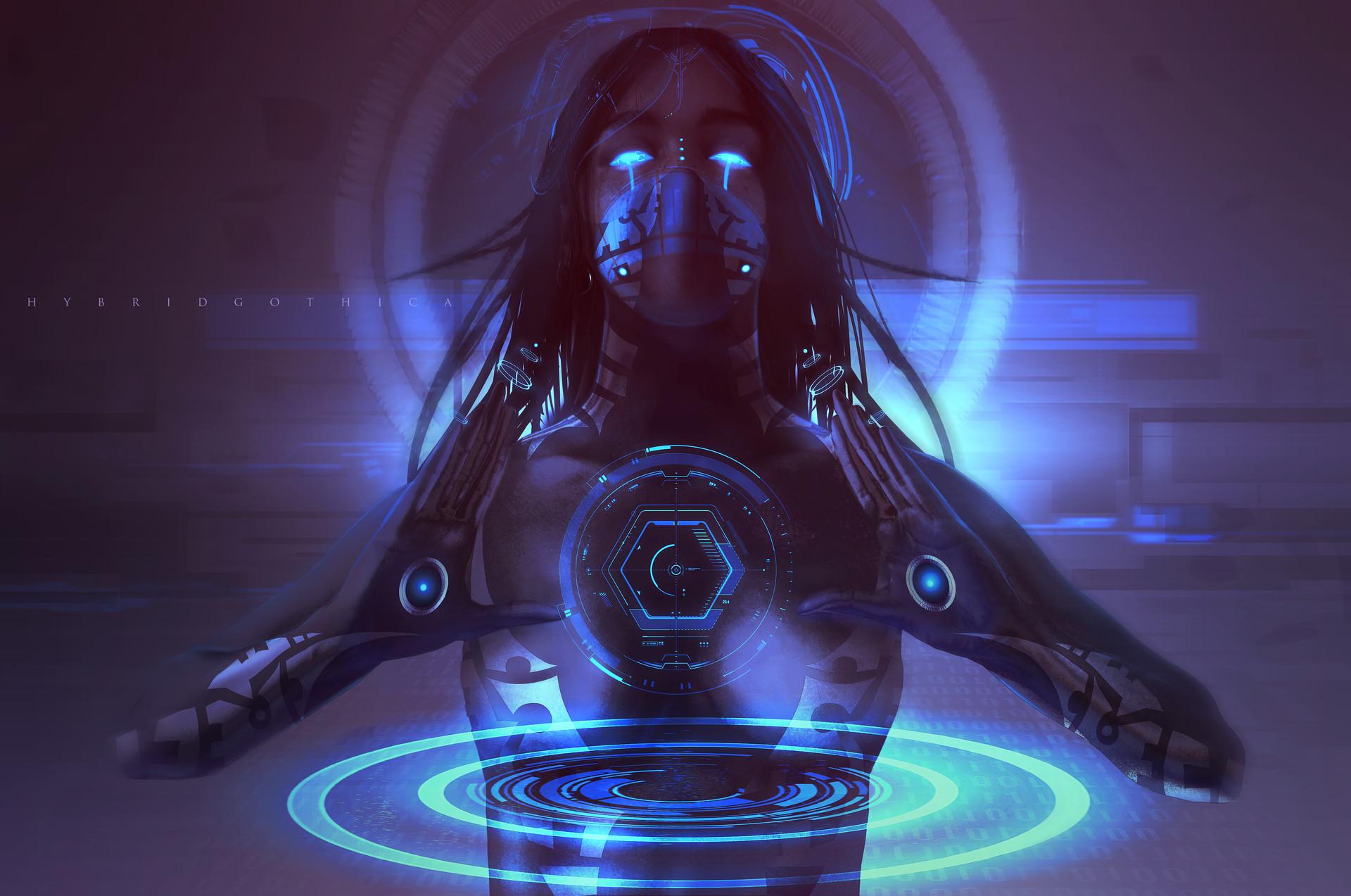 Картинки девушки кибер