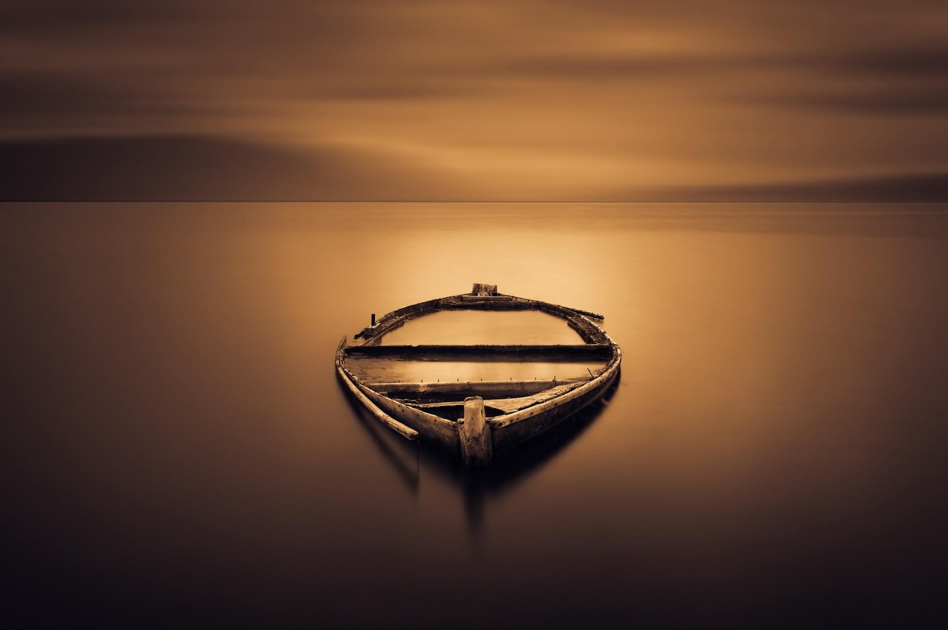 лодки ночь  № 3506487  скачать
