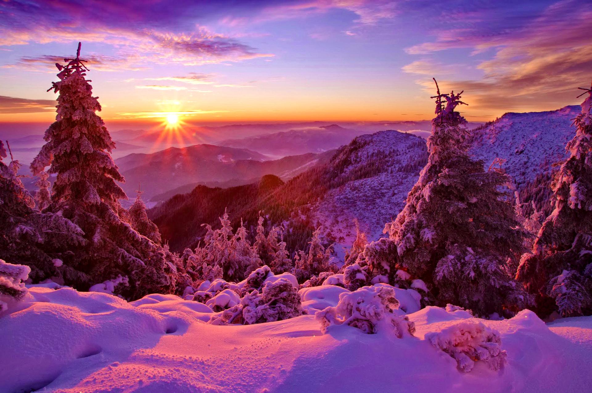 закат в снегах картинки зрителей так полюбили