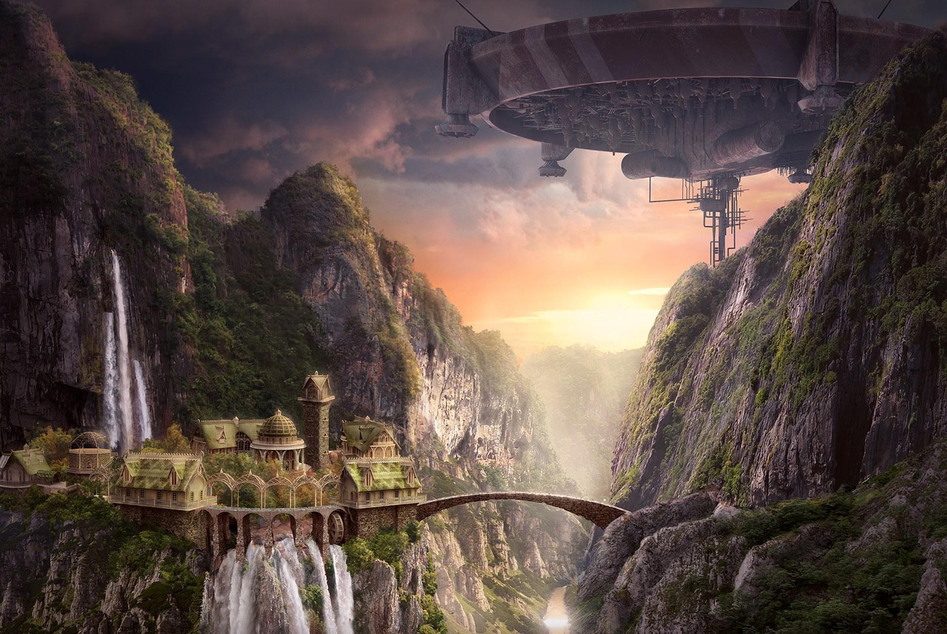 Фантастические пейзажи фото