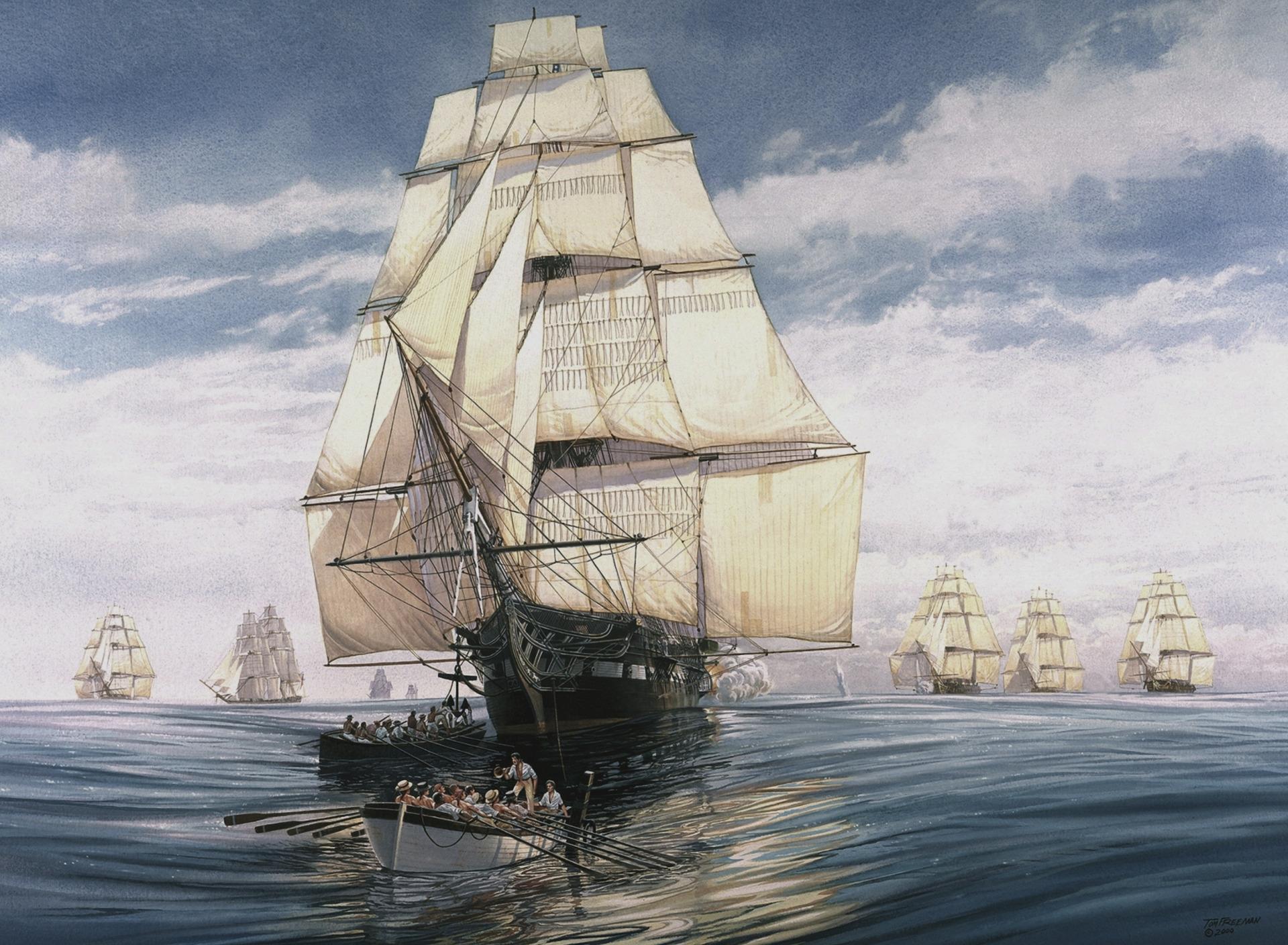 Картинки корабль старинные в море