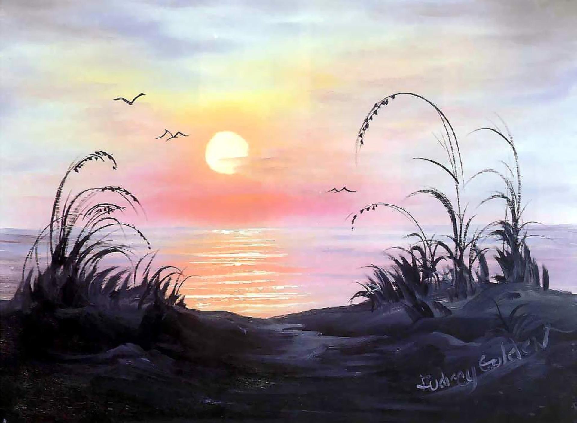 Восход солнца картинки нарисованные, глазами надписью открытка
