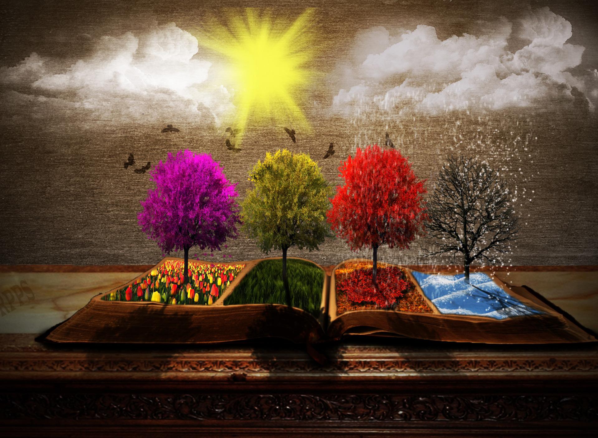 В картинках весна и осень