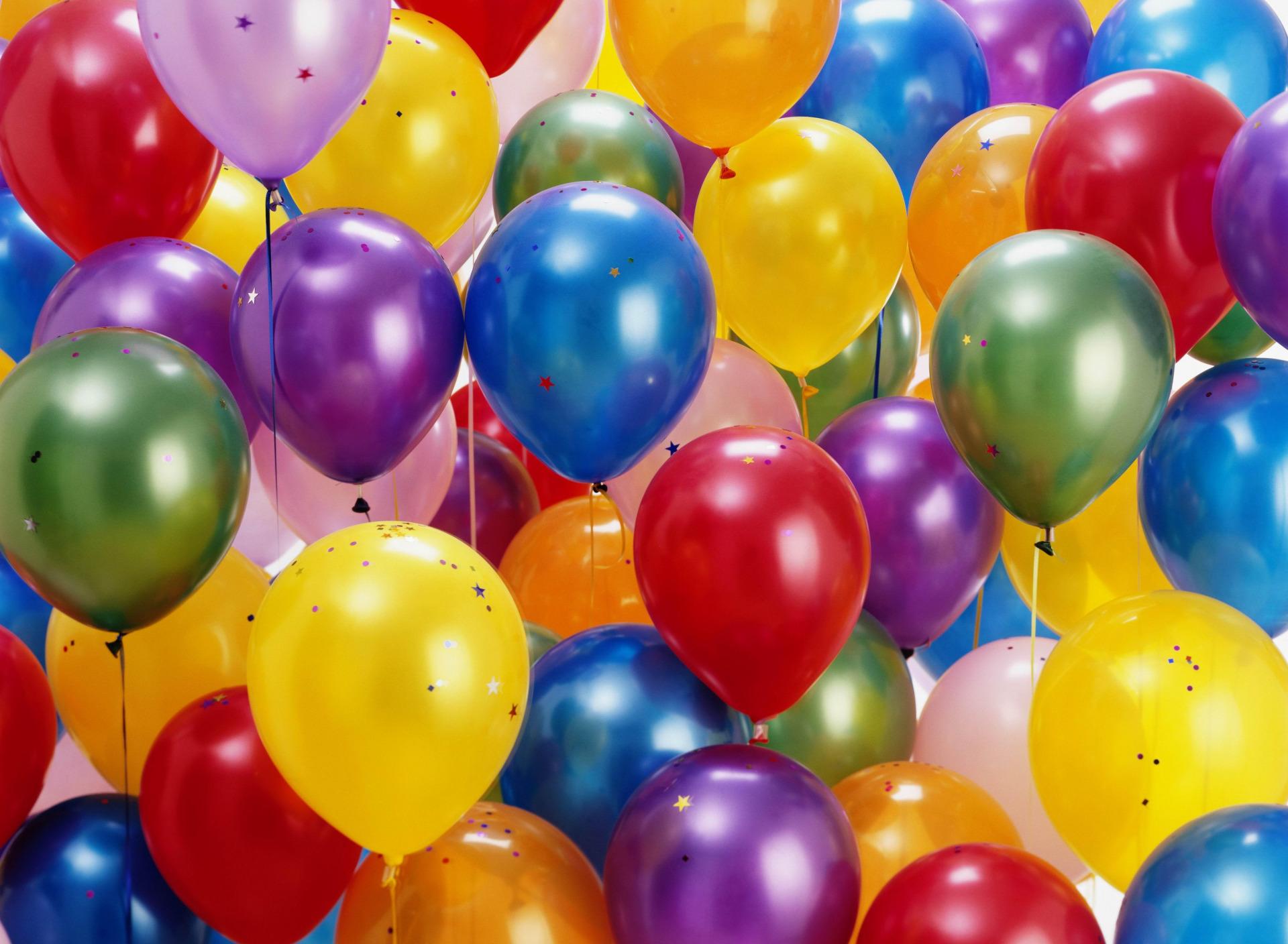 Поздравительные открытки с воздушными шарами, рыжик