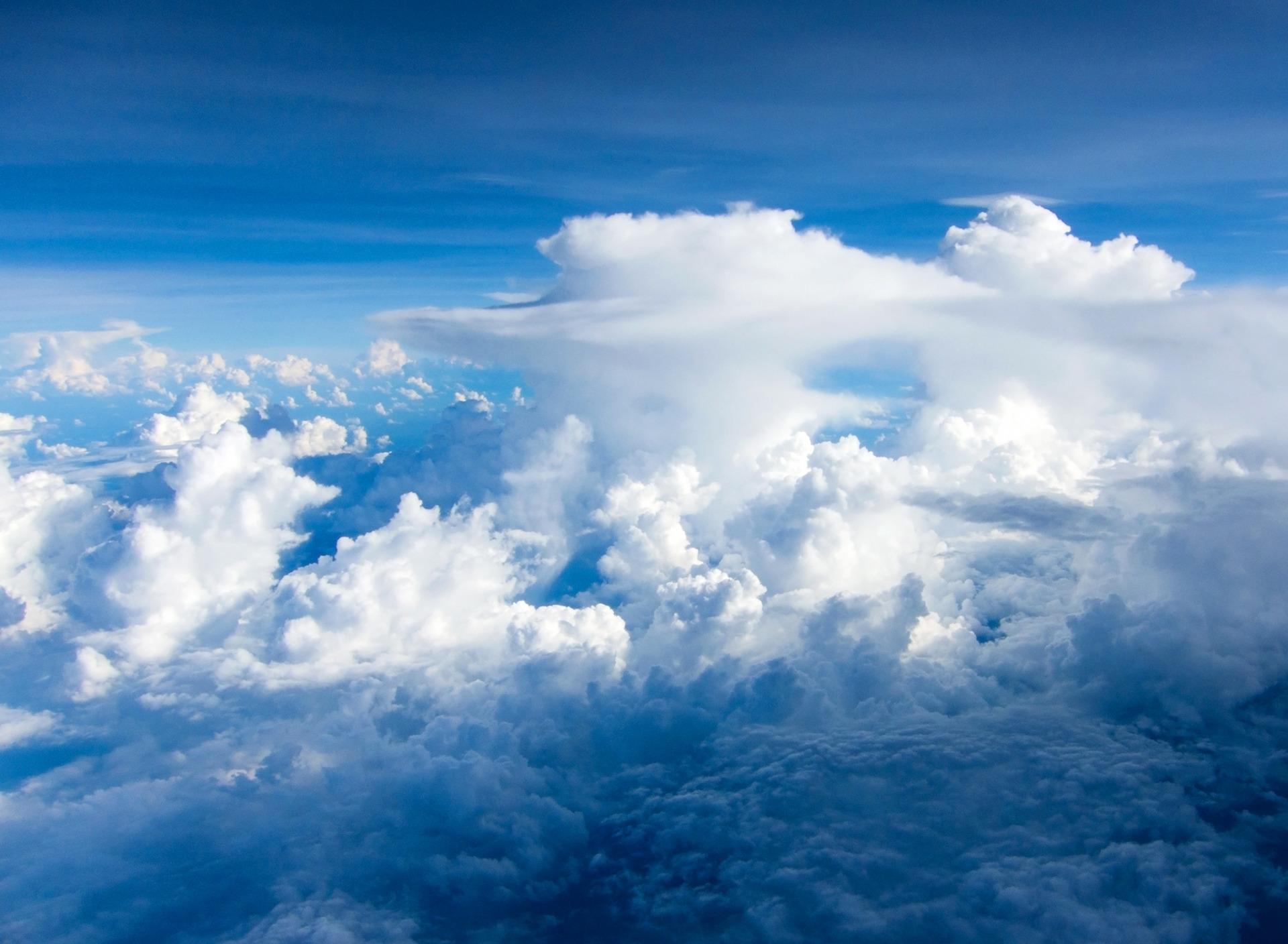 Для папы, фон для открытки облака