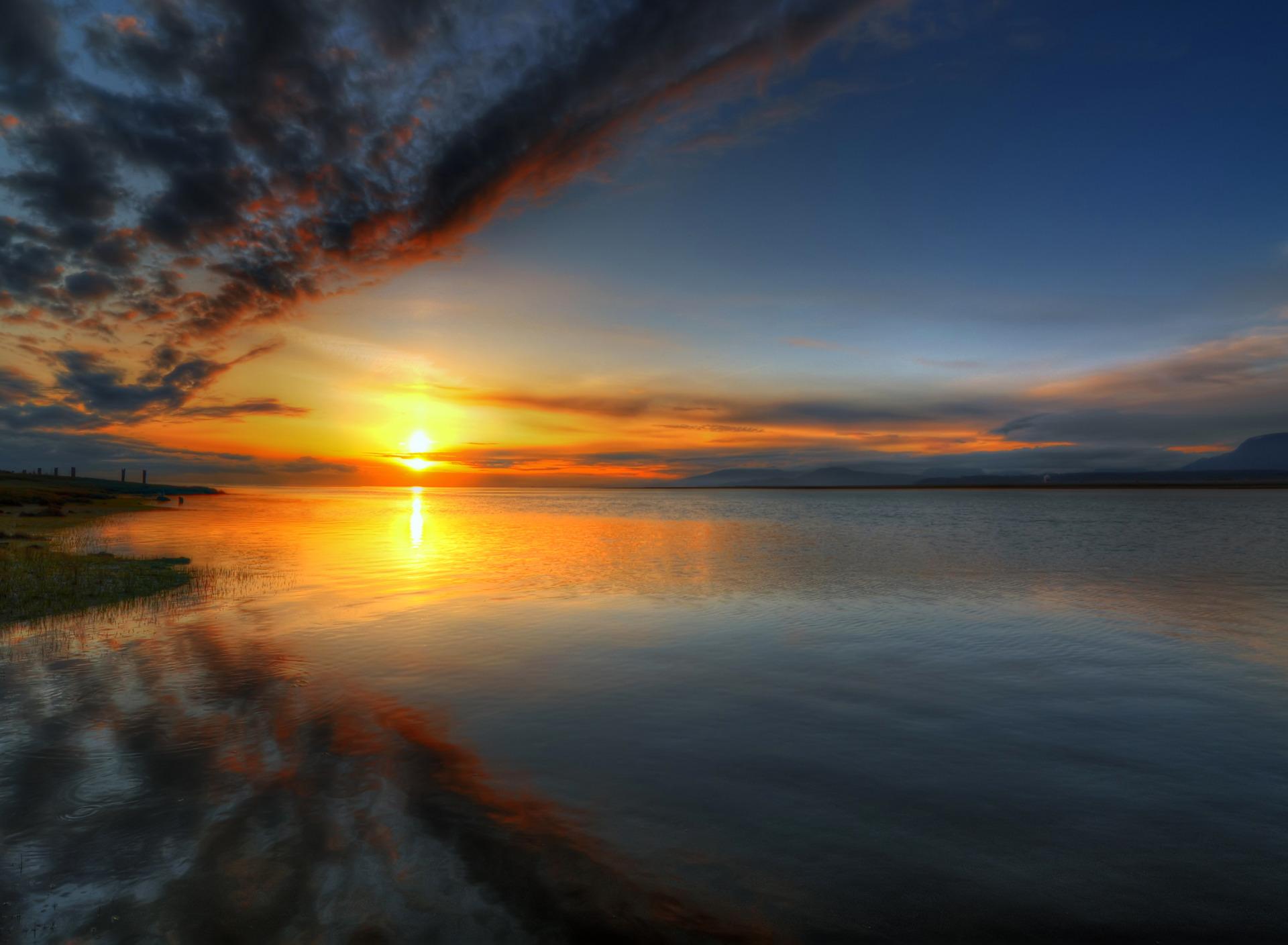 фото закат рассвет вода получили