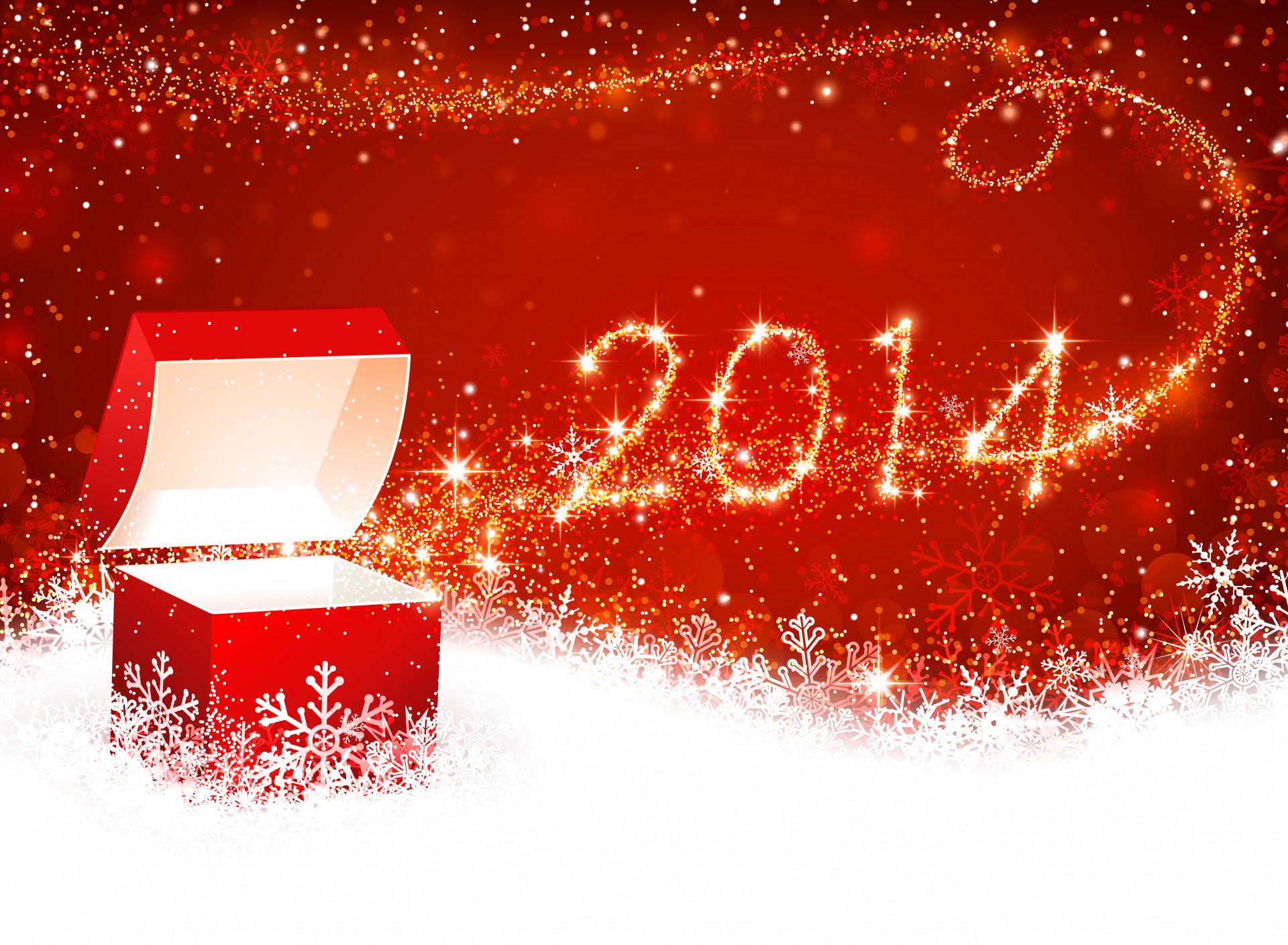 Ласка, открытки с новым года 2014