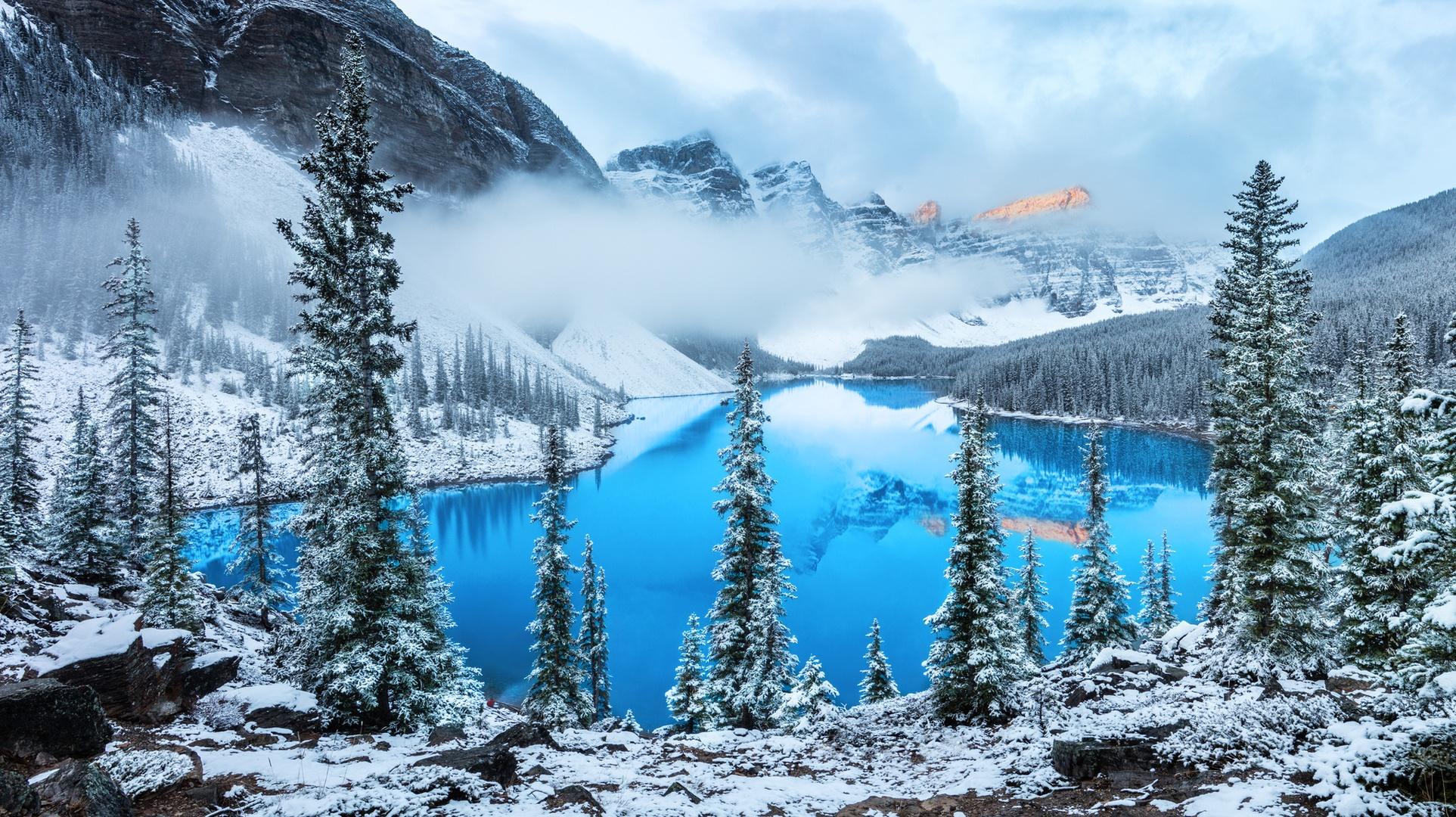 озеро горы снег  № 2476789 без смс