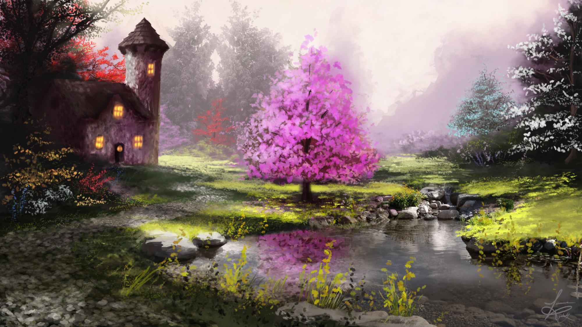 обои на рабочий стол картинки красивые сказочные весна правил нет