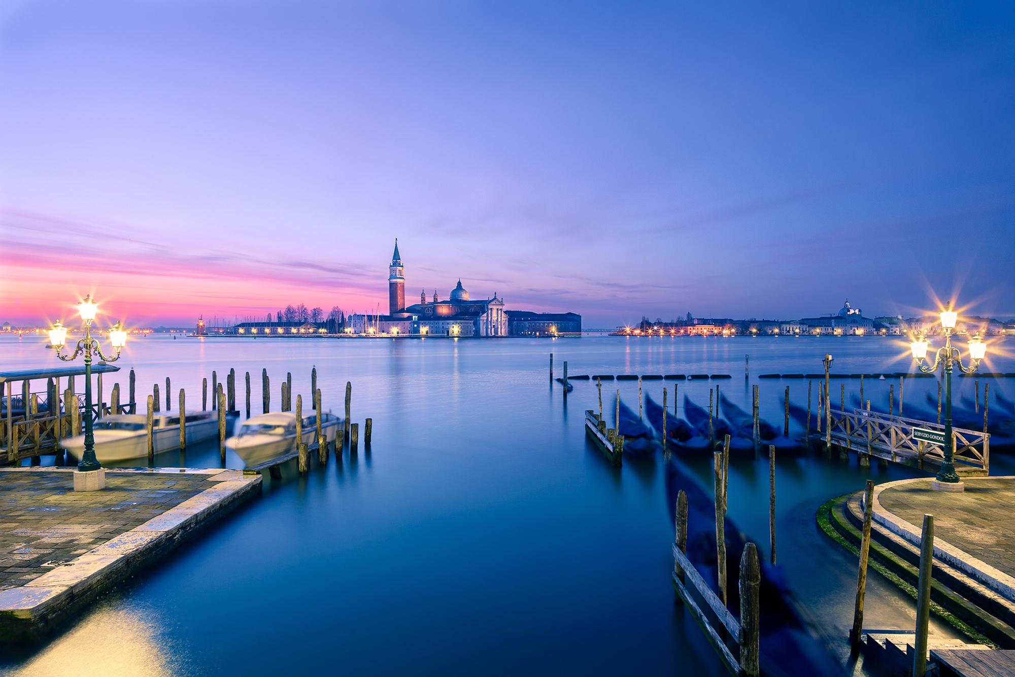 Sunset Over Grand Canal, Venice, Italy  № 1471215 загрузить