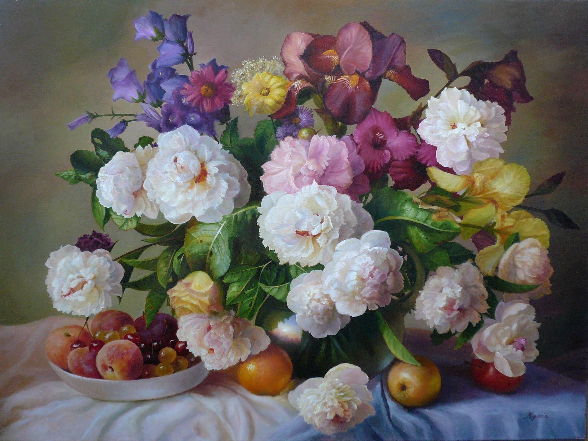 Художественные картинки цветов, папе день рождения