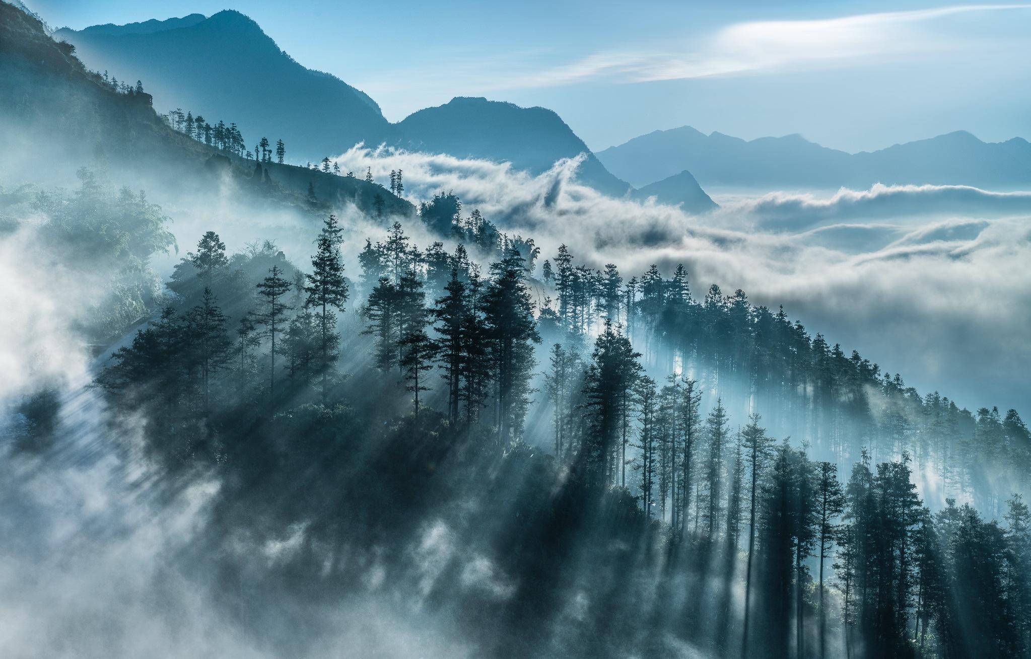 туман в горах1  № 394565 загрузить