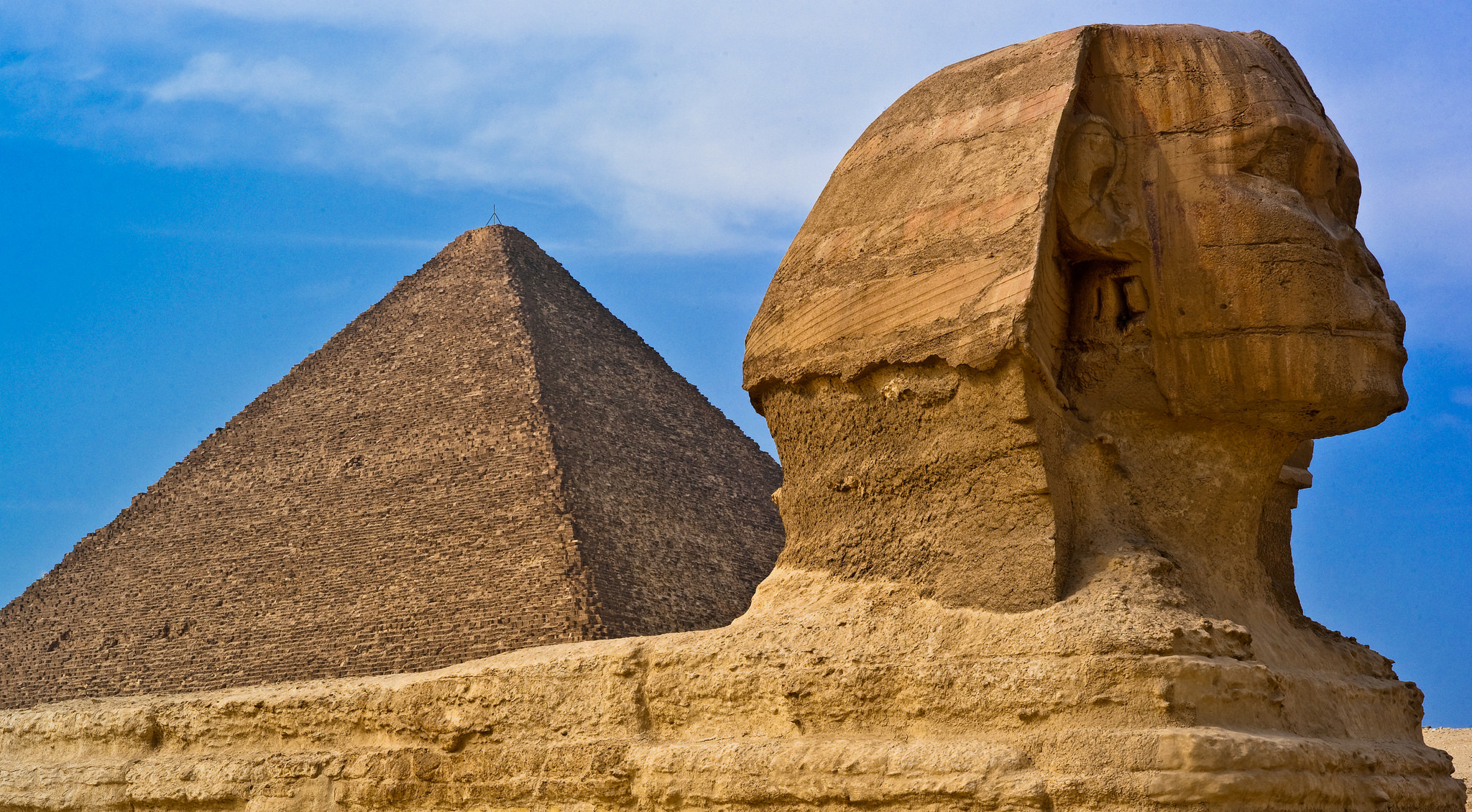 Great Sphinx, Chephren Pyramid, Giza, Egypt  № 2245305 без смс