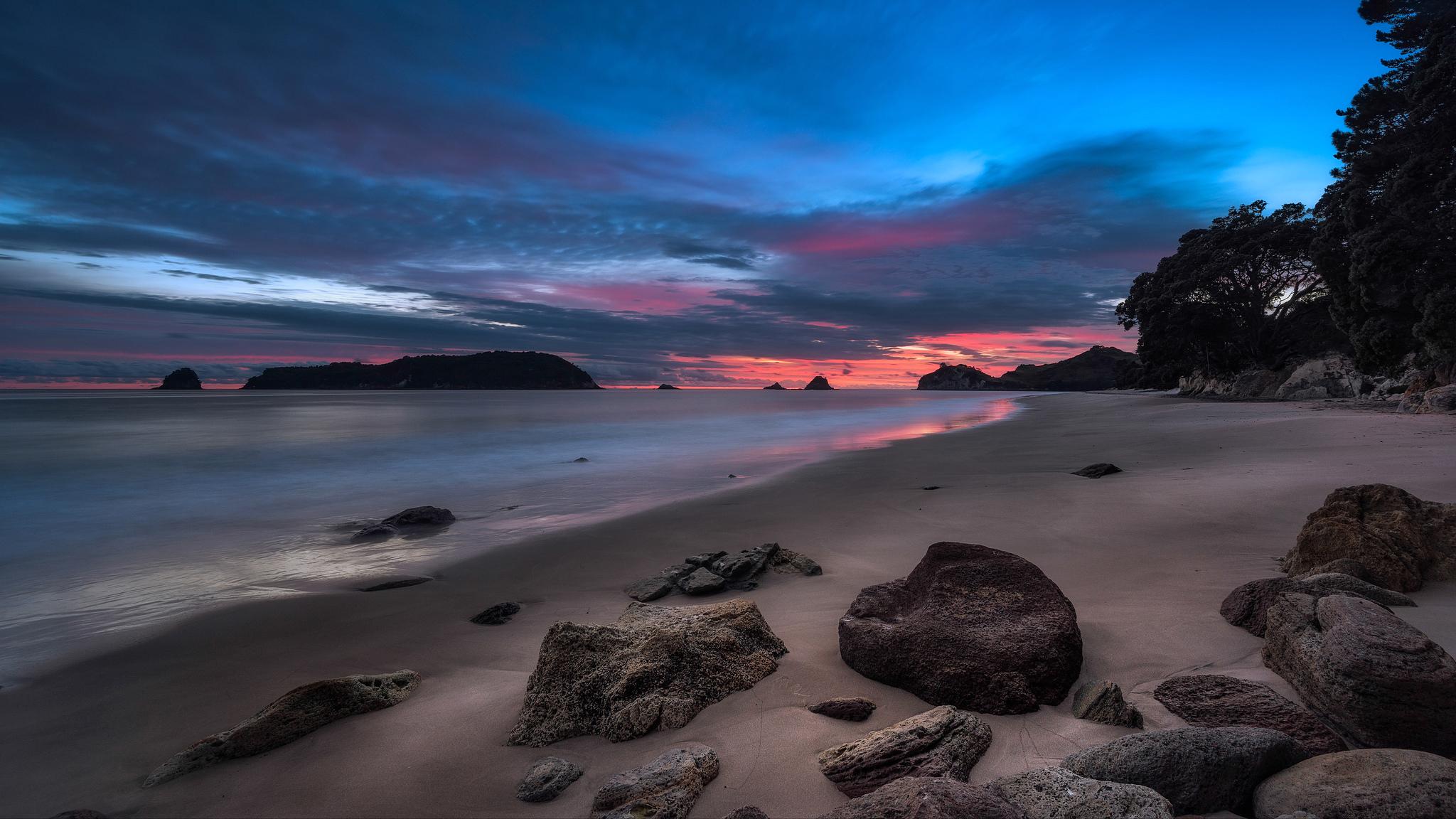 море берег камни закат sea shore stones sunset  № 1033169  скачать