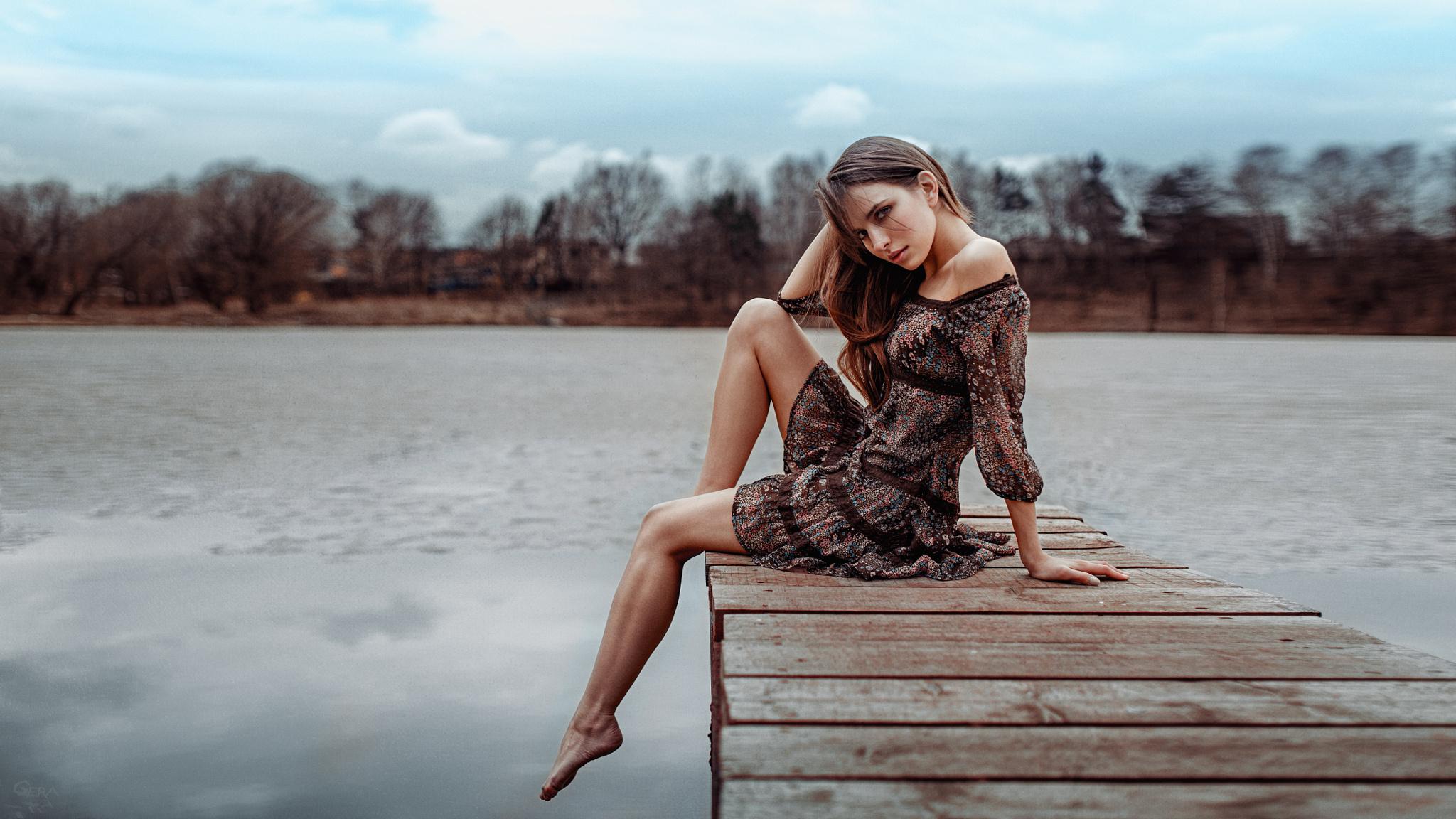 разделены между идеи для фото возле озера силуэты белого