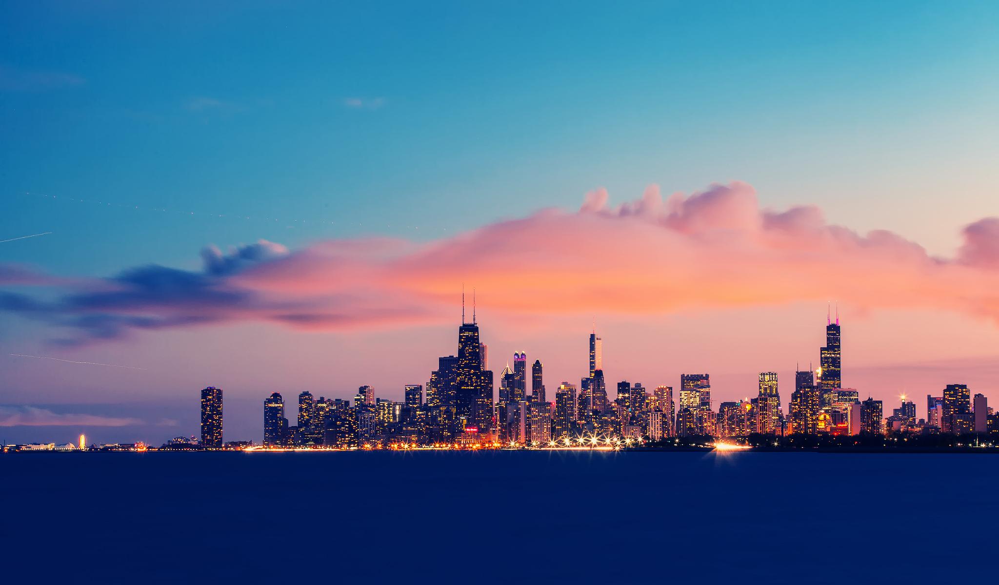 Ночной порт в Чикаго  № 3504510 без смс
