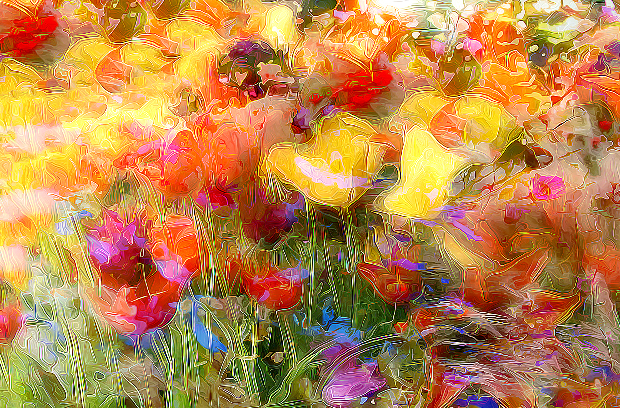 картинка полотно цветов большое количество